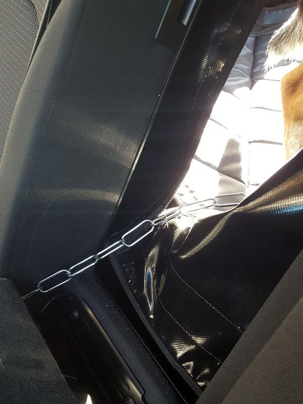 Befestigung der Hatchbag