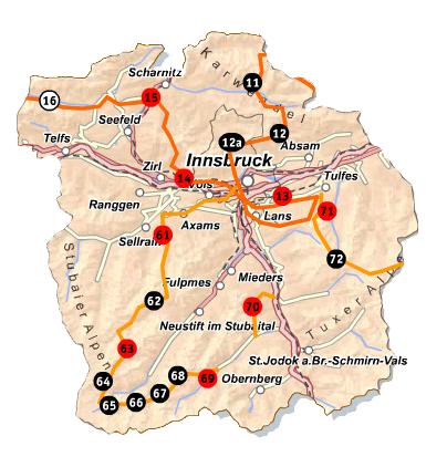 Innsbruck-Karte