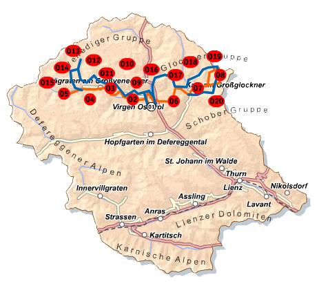 Osttirol-Karte