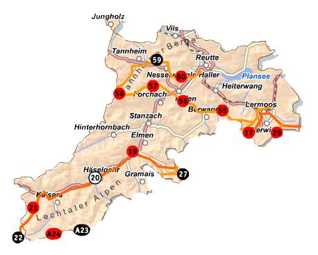 Reutte-Karte