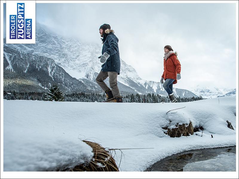 Schneewanderung in den Alpen