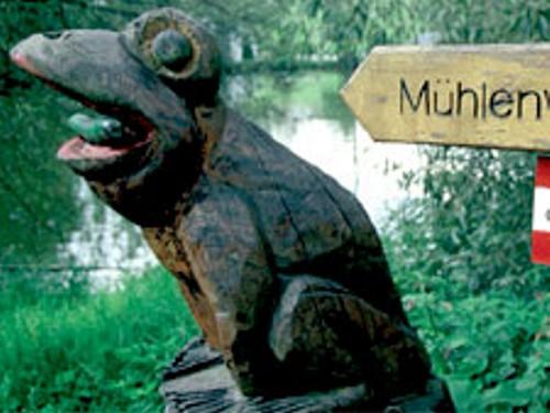 Großansicht - Frosch aus Holz