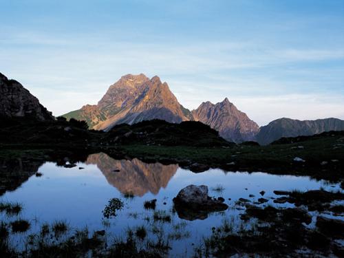 Großansicht - Bergpanorama im Kleinwalsertal