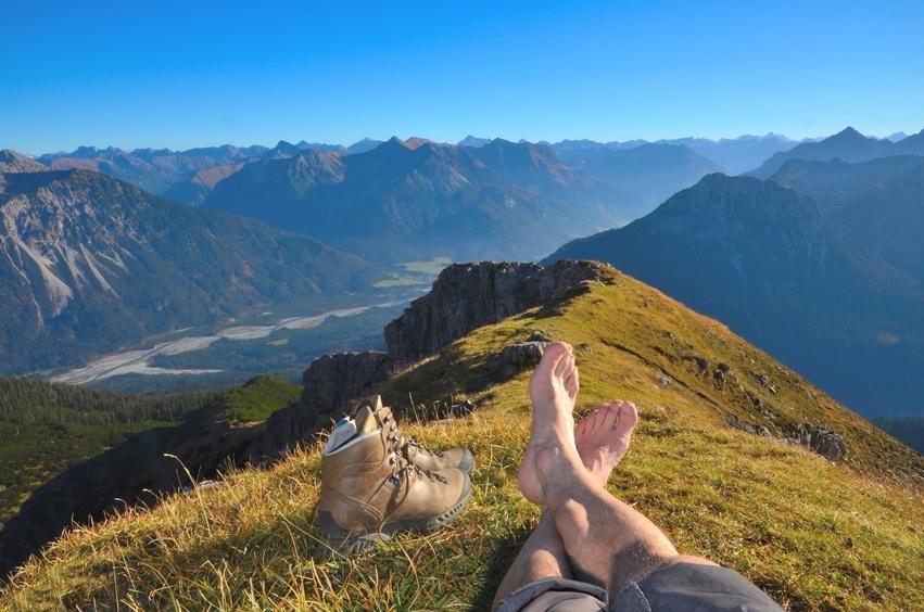 Großansicht - Ausblick über die Berge