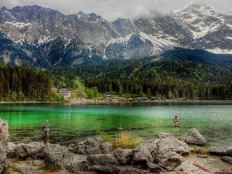 Großansicht - Eibsee Zugspitze: Bild von kordula vahle auf Pixabay