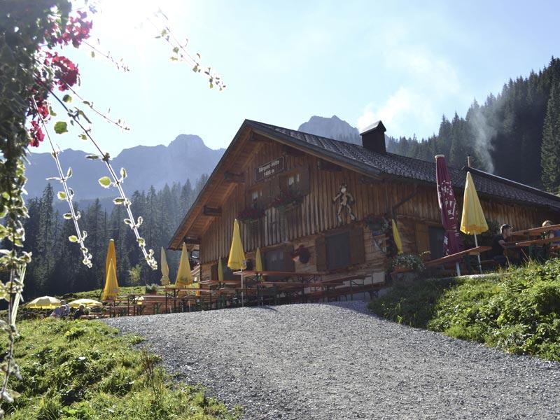 Großansicht - Genusshuette Baergunthuette @ Kleinwalsertal Tourismus