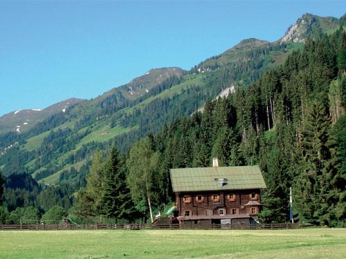 Großansicht - Berghütte auf einer Almwiese in den Kitzbüheler Alpen