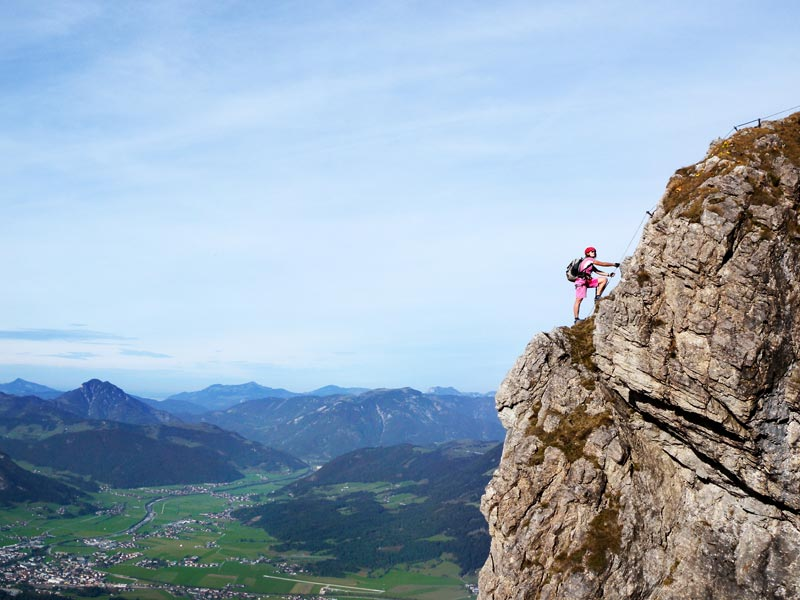Klettersteig Kitzbüheler Horn : Klettertsteig kraxeln wie die gämsen klettersteige am