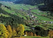 Blick ins Tal - Ortsansicht Brixen