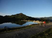 Mountainbiken am Kreuzjöchlsee