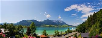 Ausblick auf den Walchsee in Tirol
