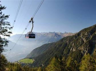 Bergbahn in der Ferienregion Schenna