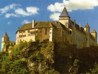 Ausblick auf das Schloss Rosenburg im Kamptal