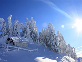 verhschneite Winterlandschaft in der Urlaubsregion Brixental