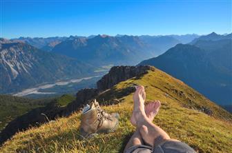 Ausblick über die Berge