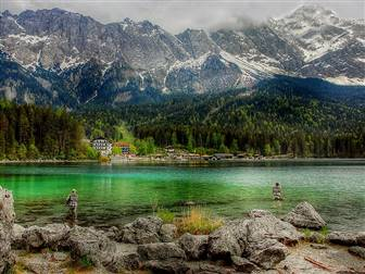 Eibsee Zugspitze: Bild von kordula vahle auf Pixabay
