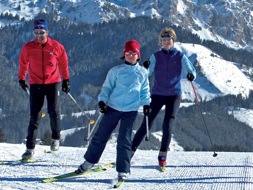 Großansicht - Gruppe von Personen beim Langlaufen