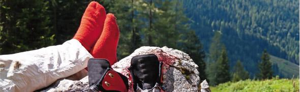 Funktionssocken für die Bergwanderung