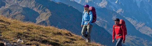 Bergwanderung in den Alpen