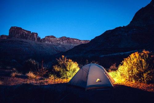 Zeltübernachtung im Freien